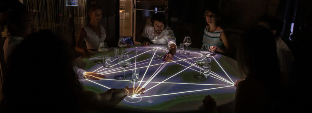 connect people interactive table